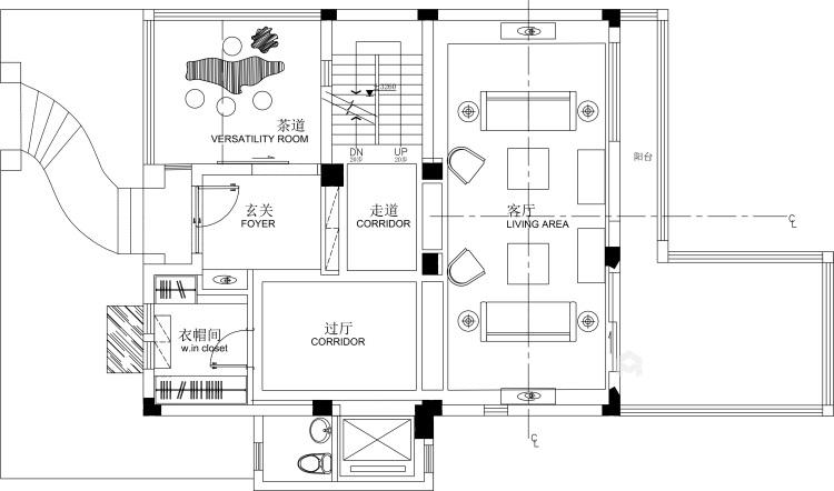 240平泽瑞西园北欧风格-无法忘怀的梦-平面设计图及设计说明