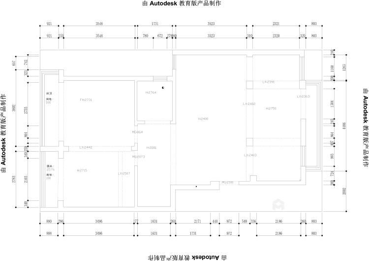 110平舒格兰现代风格-纯粹-业主需求&原始结构图