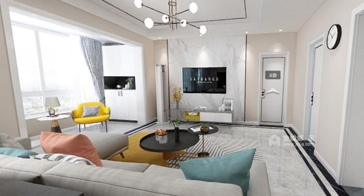 113平邦泰国际社区北欧风格-客厅效果图及设计说明