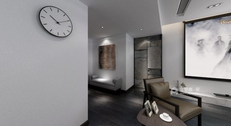 170平狮山原著现代风格-不多不少、刚刚好的现代简约-客厅效果图及设计说明