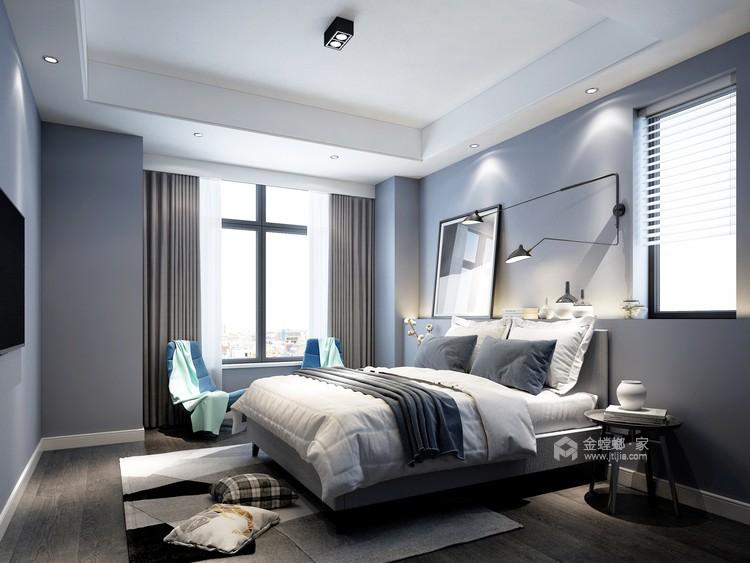 170平狮山原著现代风格-不多不少、刚刚好的现代简约-卧室效果图及设计说明