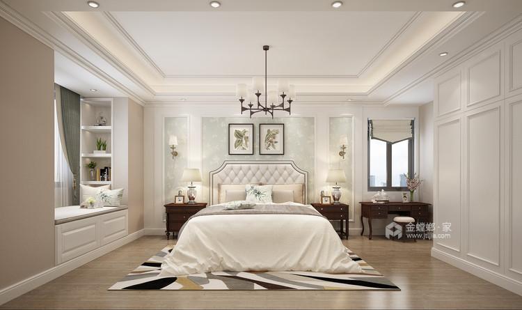 143平香港时光简美风格-清新-卧室效果图及设计说明