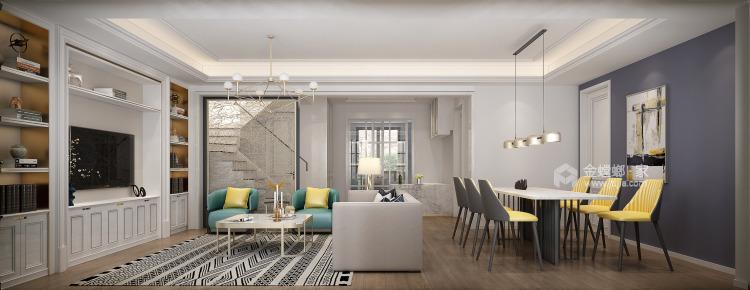 141平狮山原著简美风格-高级又耐看的简美轻奢-餐厅效果图及设计说明