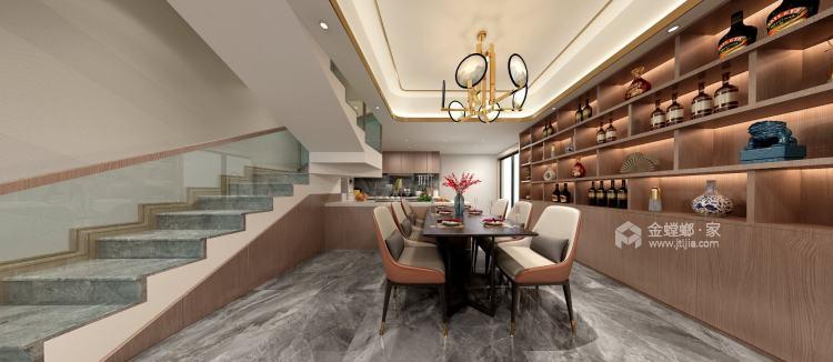 158平天空墅新中式风格-餐厅效果图及设计说明