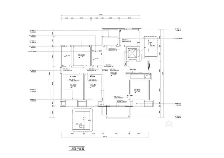 143平香港时光简美风格-清新-业主需求&原始结构图