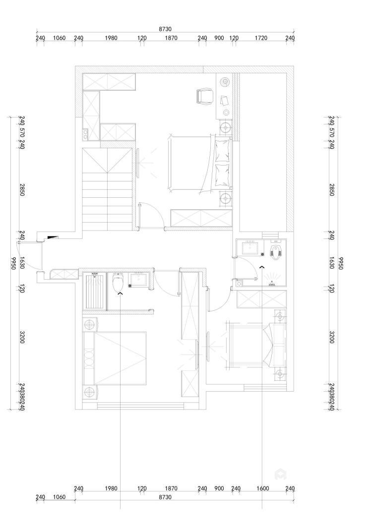 158平天空墅新中式风格-平面设计图及设计说明
