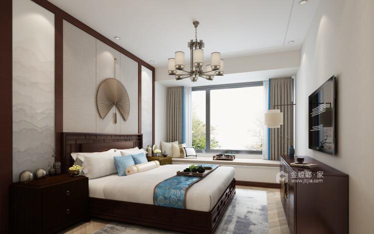 142平锦悦湾新中式风格-越简约 越贵气-卧室效果图及设计说明