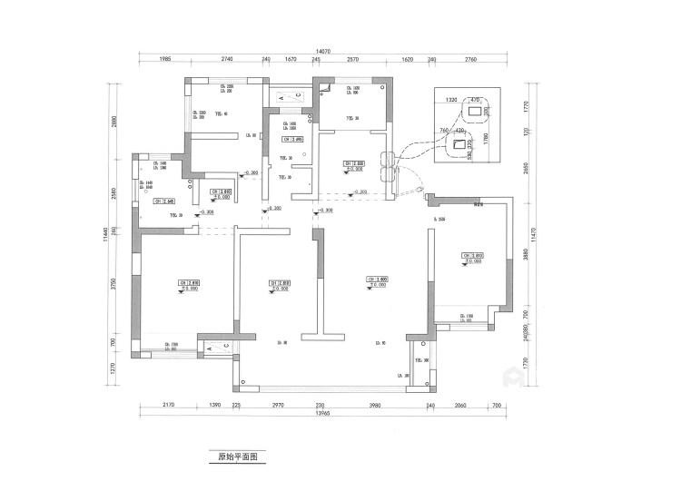 142平锦悦湾新中式风格-越简约 越贵气-业主需求&原始结构图