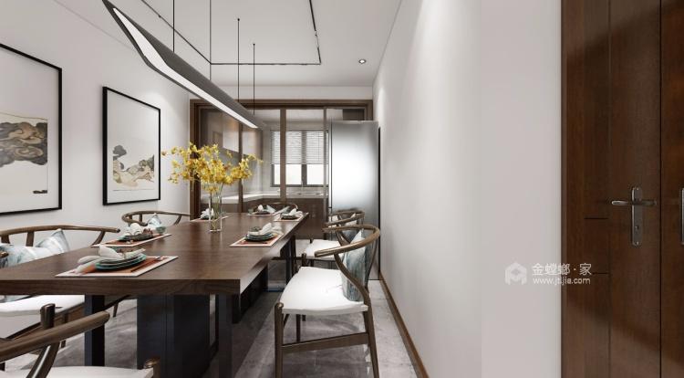 142平锦悦湾新中式风格-越简约 越贵气-餐厅效果图及设计说明