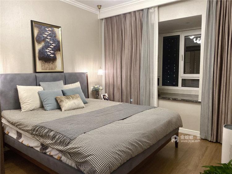 88平时代上城现代风格-原木与浅灰色协调之下的温馨小家-卧室效果图及设计说明