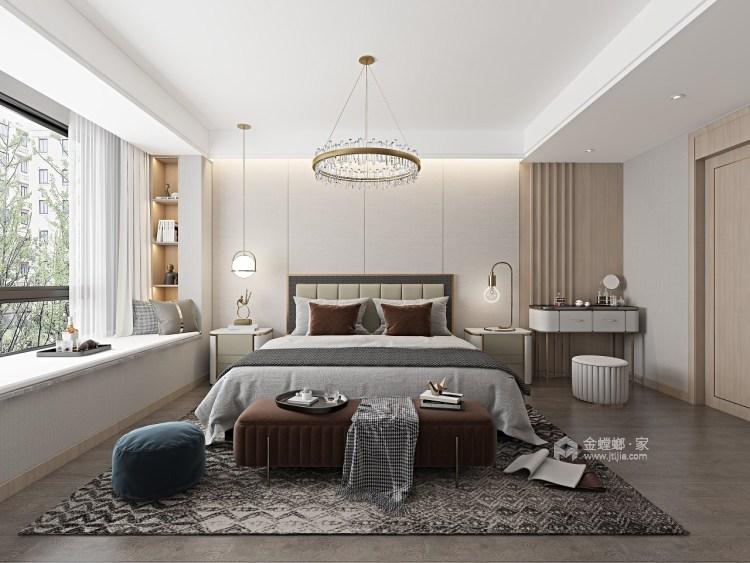 143平金悦府现代风格-衍素-卧室效果图及设计说明