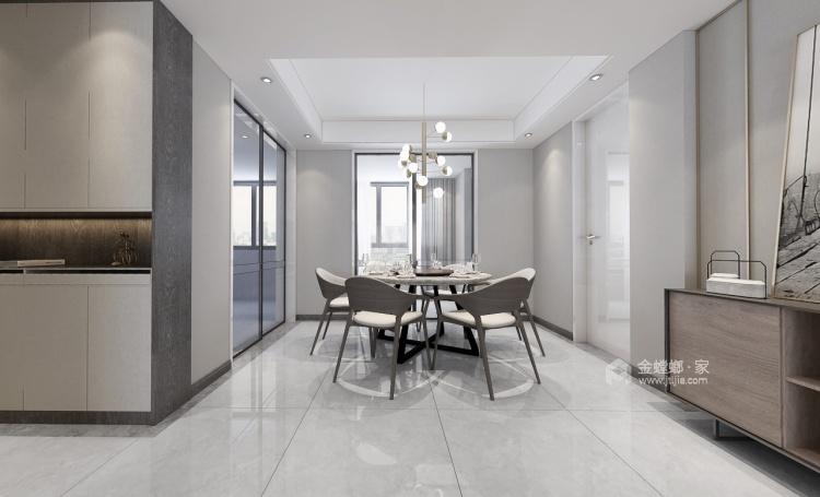 140平荷澜庭现代风格-刚刚好的精致现代风-餐厅效果图及设计说明