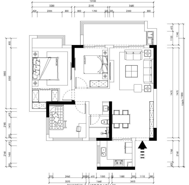 112平熙悦府现代风格-元素空间-平面设计图及设计说明