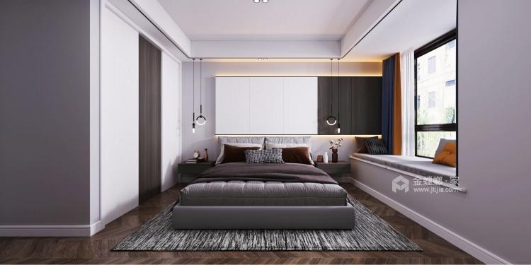 112平熙悦府现代风格-元素空间-卧室效果图及设计说明