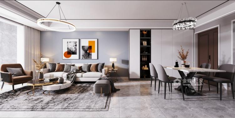 112平熙悦府现代风格-元素空间-餐厅效果图及设计说明