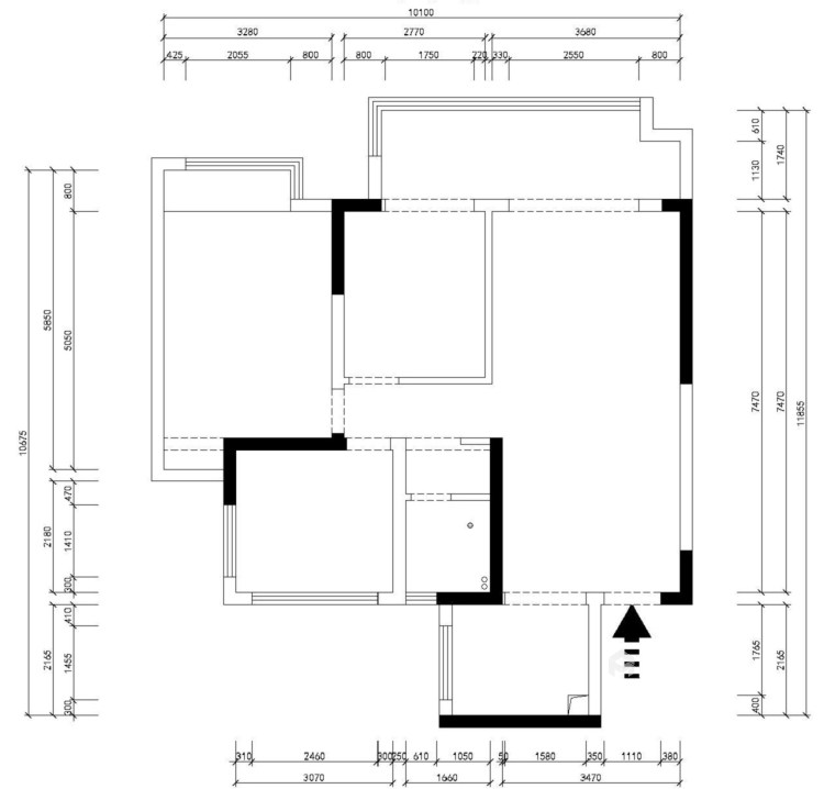 112平熙悦府现代风格-元素空间-业主需求&原始结构图