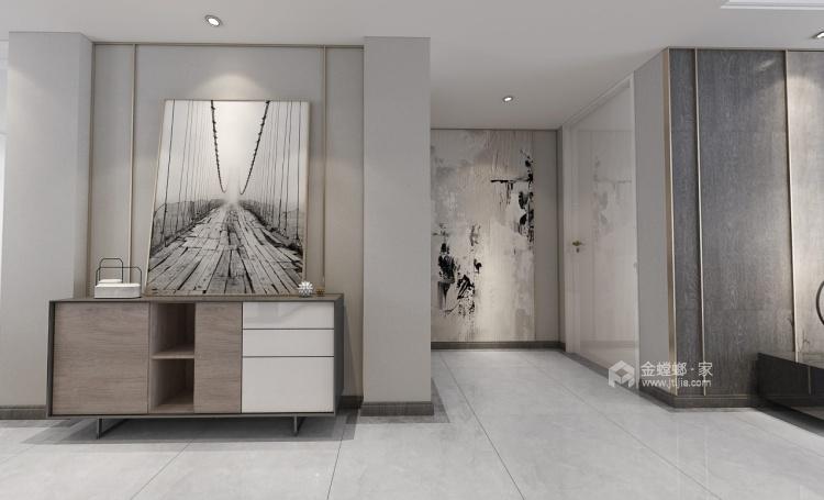 140平荷澜庭现代风格-刚刚好的精致现代风-客厅效果图及设计说明