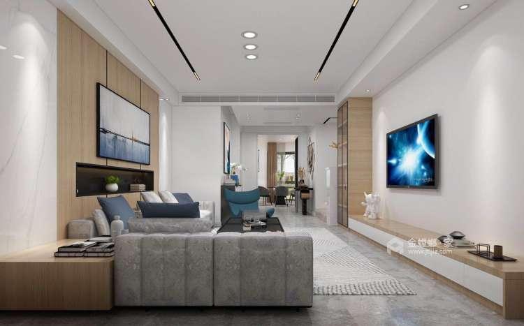 140平优山美地现代风格-幸福之家-客厅效果图及设计说明