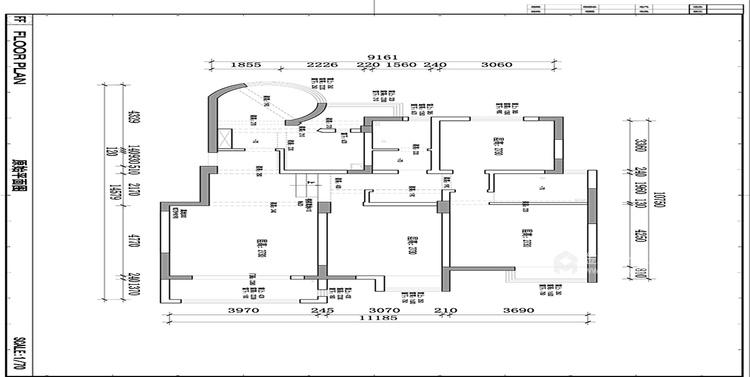 140平优山美地现代风格-幸福之家-业主需求&原始结构图