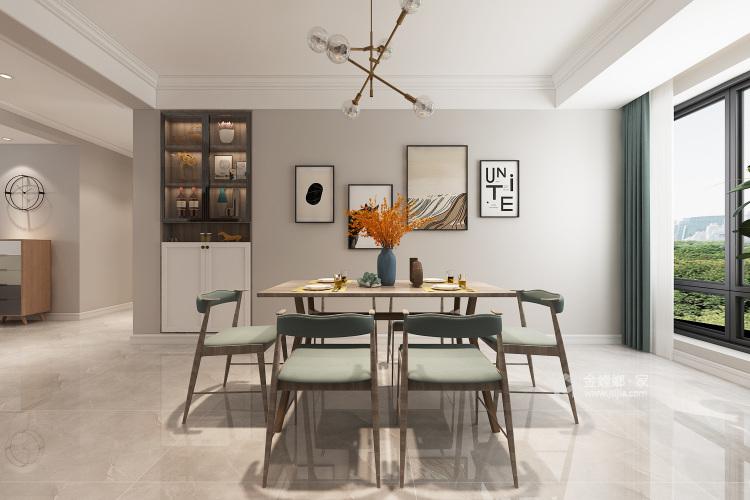 147平理想之城百合园现代风格-餐厅效果图及设计说明