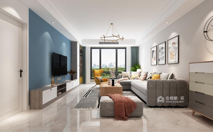 147平理想之城百合园现代风格-客厅效果图及设计说明