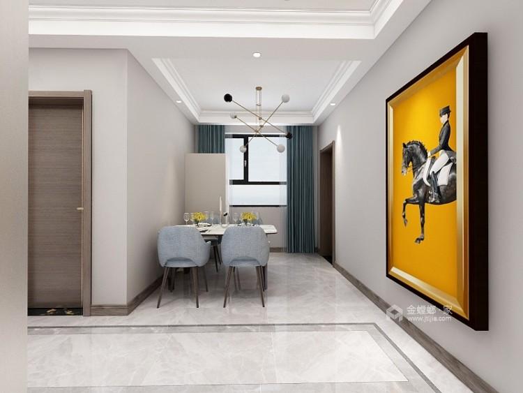 130平唐宫原著现代风格-灰度-餐厅效果图及设计说明