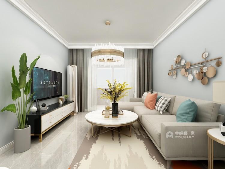 90平保利拉菲北欧风格-客厅效果图及设计说明