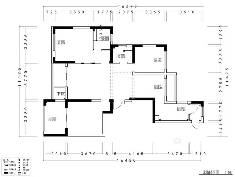 146平威尼斯水城美式风格-业主需求&原始结构图