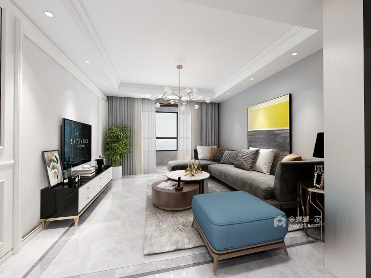 130平唐宫原著现代风格-灰度-客厅效果图及设计说明