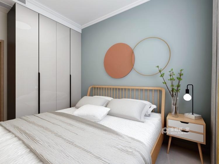 90平保利拉菲北欧风格-卧室效果图及设计说明