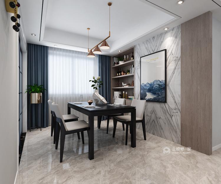 140平明贵园现代风格-客厅效果图及设计说明