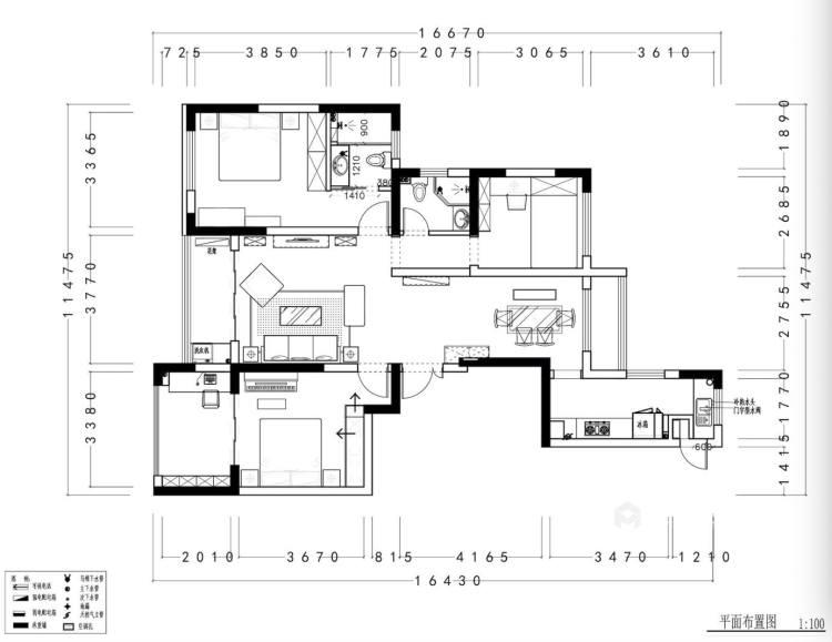 146平威尼斯水城美式风格-平面设计图及设计说明