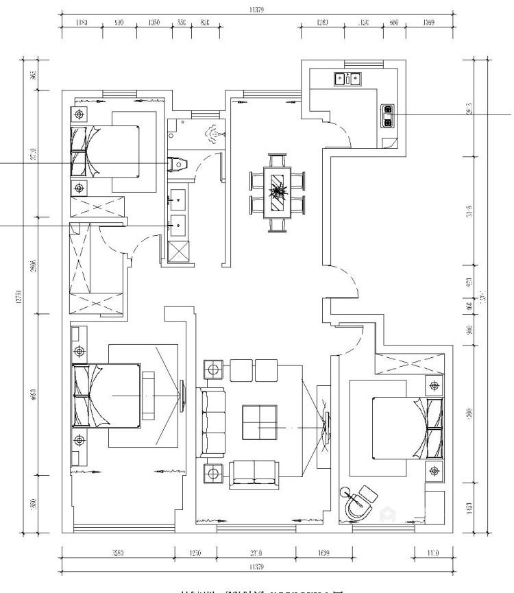 147平理想之城百合园现代风格-平面设计图及设计说明