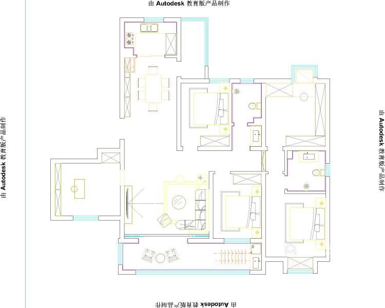 197平涵翠苑新中式风格-平面设计图及设计说明