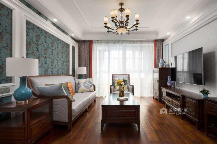 146平威尼斯水城美式风格-客厅效果图及设计说明