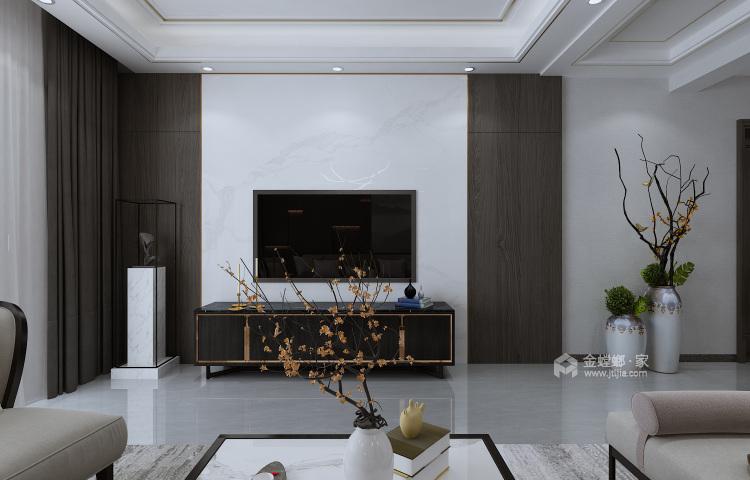 197平涵翠苑新中式风格-客厅效果图及设计说明