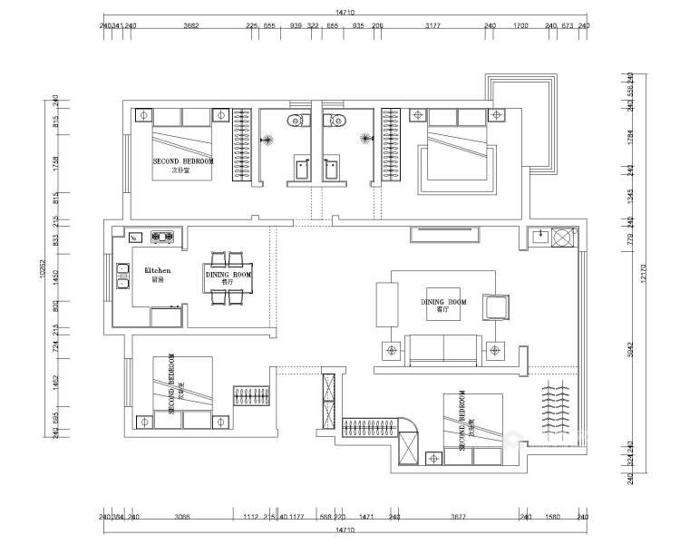 160平保利善园日式风格-经典案例-平面设计图及设计说明