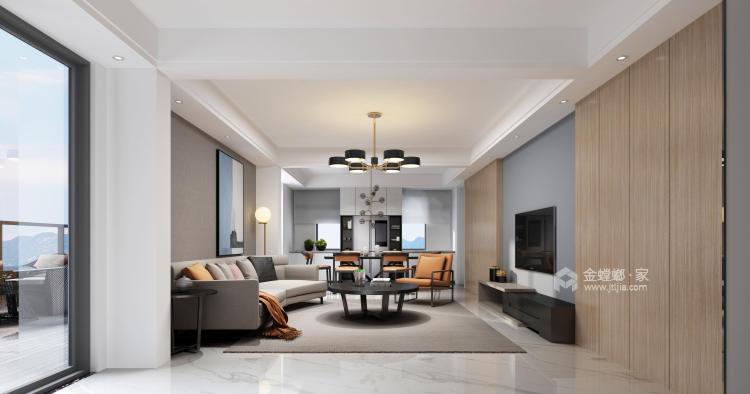 188平虹锦湾先点风格-生活多年的家-客厅效果图及设计说明