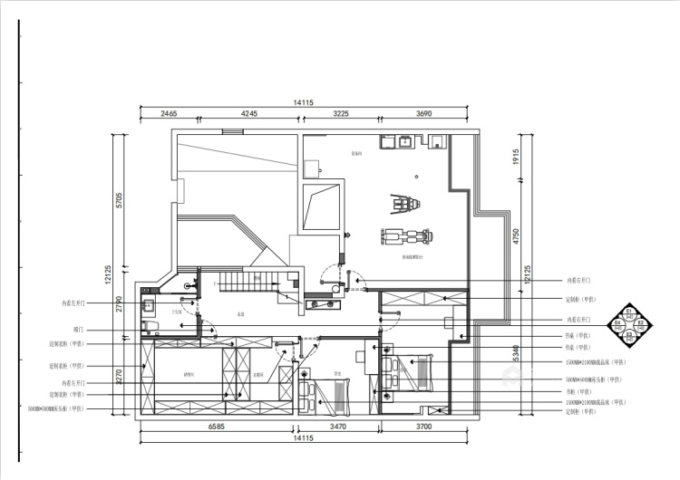 201平虹锦湾现代风格-静谧-平面设计图及设计说明