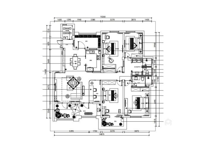 176平狮山御园北欧风格-岁月静好 生活余热-平面设计图及设计说明