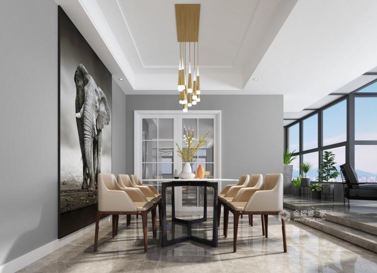 201平虹锦湾现代风格-静谧-餐厅效果图及设计说明