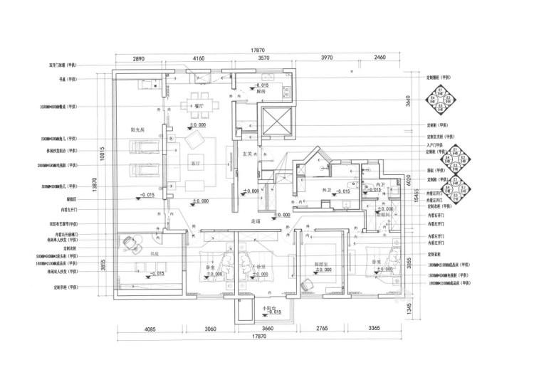 188平虹锦湾先点风格-生活多年的家-平面设计图及设计说明