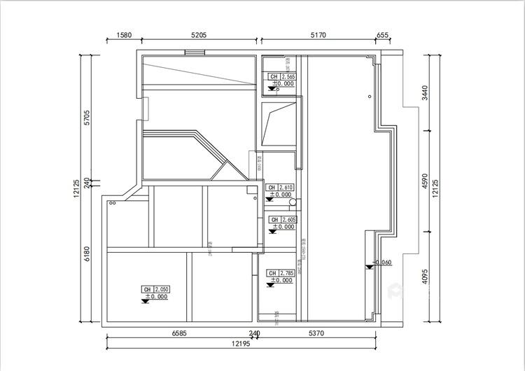201平虹锦湾现代风格-静谧-业主需求&原始结构图