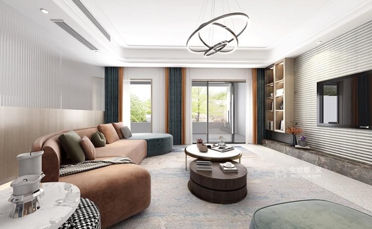 176平狮山御园北欧风格-岁月静好 生活余热-客厅效果图及设计说明