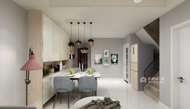 90平海棠湾现代风格-简约时尚-餐厅效果图及设计说明