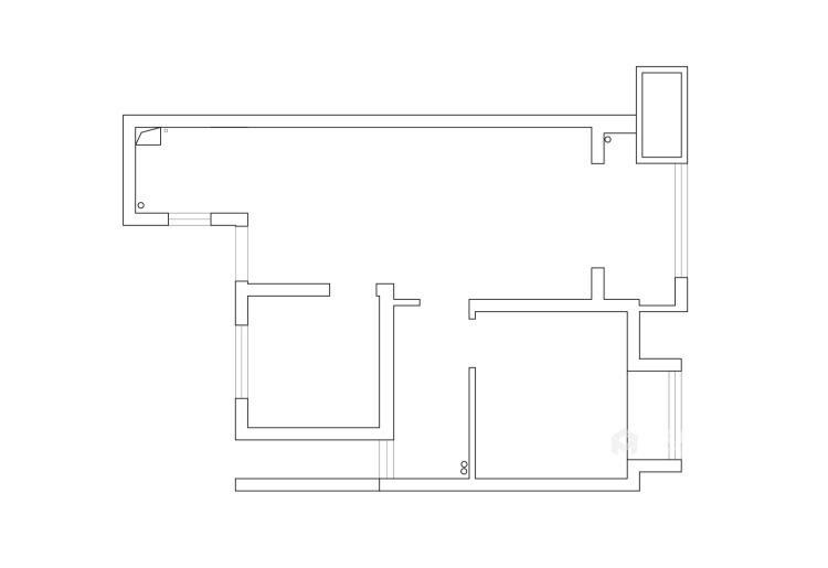 85平长泰国际北欧风格-婚房-业主需求&原始结构图
