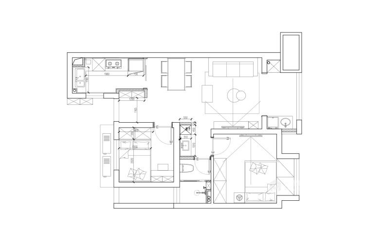 85平长泰国际北欧风格-婚房-平面设计图及设计说明