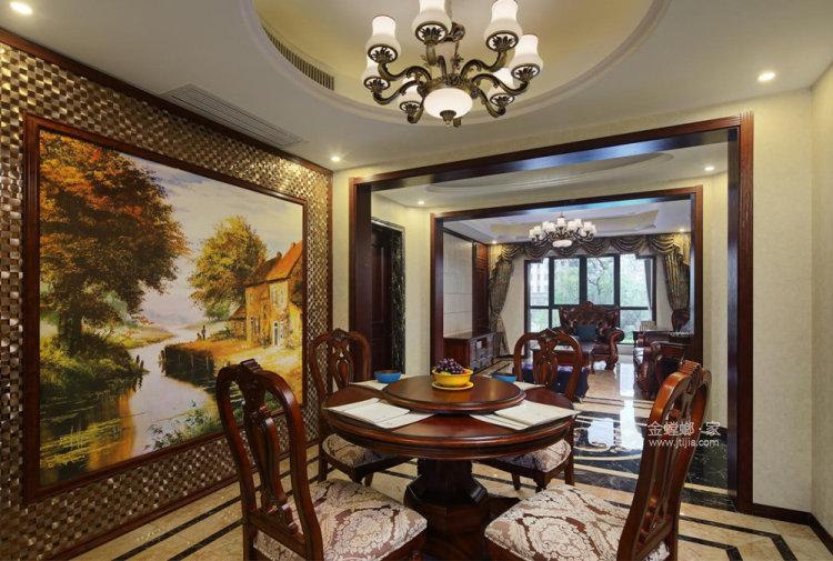 126平复地御钟山美式风格三居-餐厅效果图及设计说明