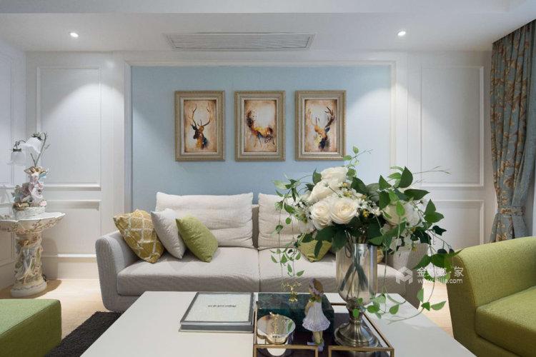 106平融侨观邸简美风格两居-客厅效果图及设计说明