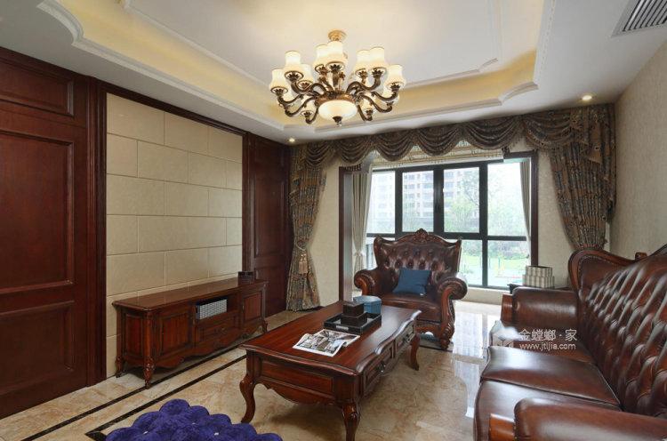 126平复地御钟山美式风格三居-客厅效果图及设计说明